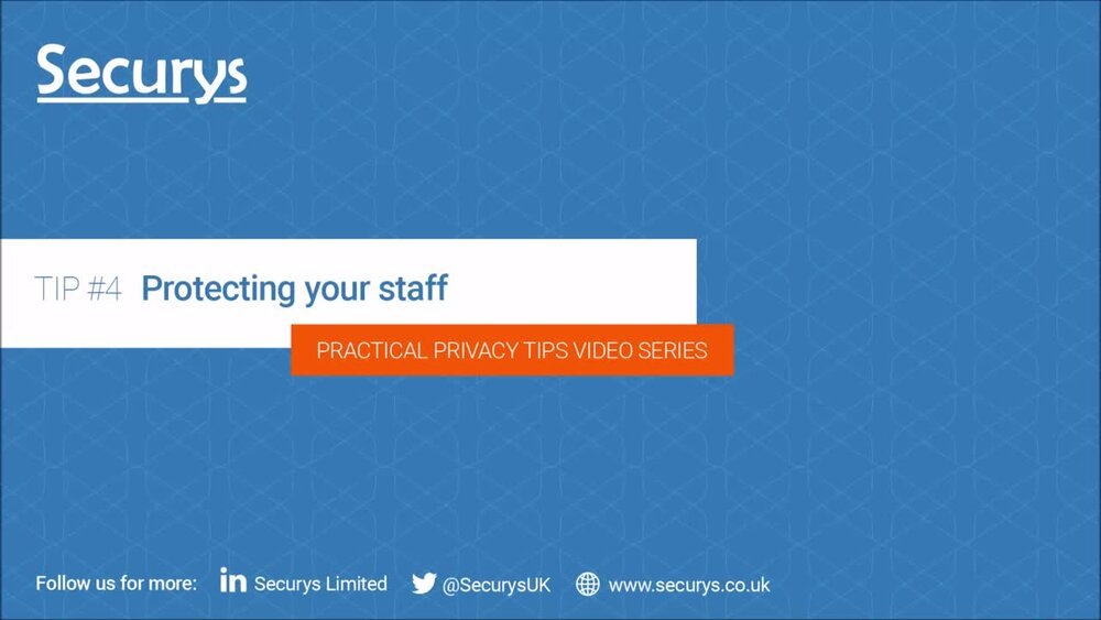 Protecting your staff