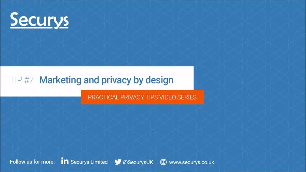 Marketing and privacy by design